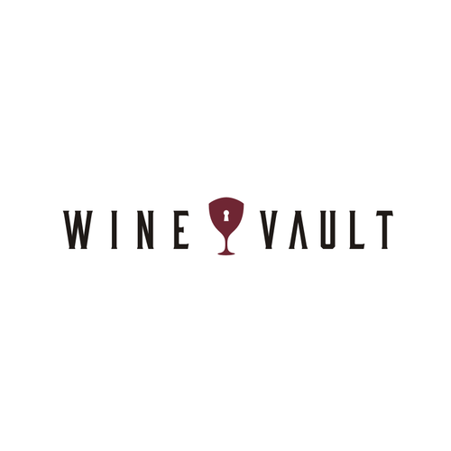 Glass logo with the title 'Wine and Vault'