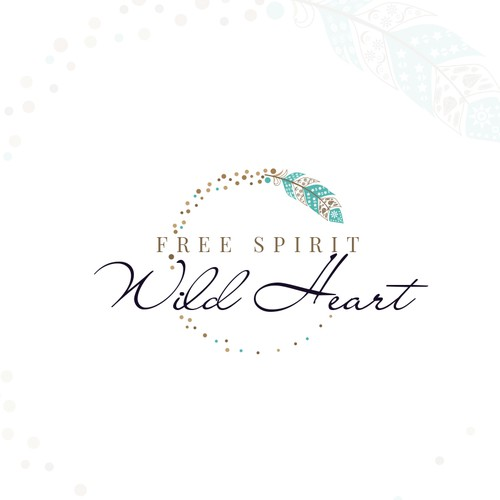 Bohemian design with the title 'New age bohemian logo for Free Spirit Wild Heart'