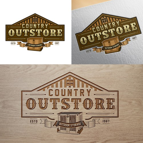 Self storage logo with the title 'COUNTRY OUTSTORE'
