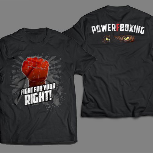 Sunburst design with the title 'Front and Back for Boxing Event '