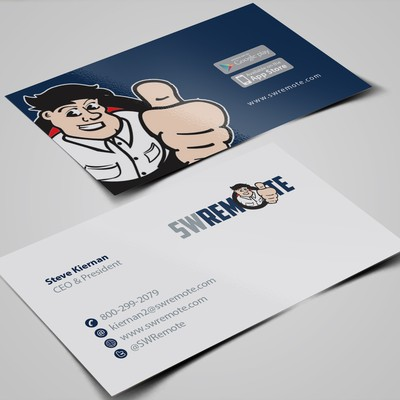 Contemporary Business Card for Mobile Technology Company
