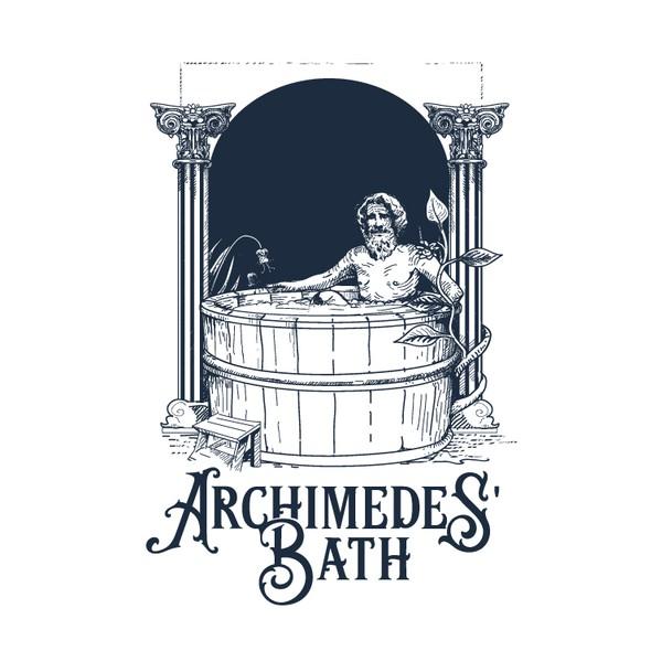 Bath design with the title 'Archimedes 'Bath'