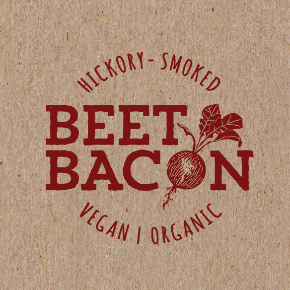Vegetarian design with the title 'Beet Bacon - Create the brand/logo for a next generation food!'