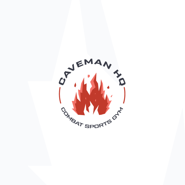 Caveman design with the title 'Combat sports on fire!'