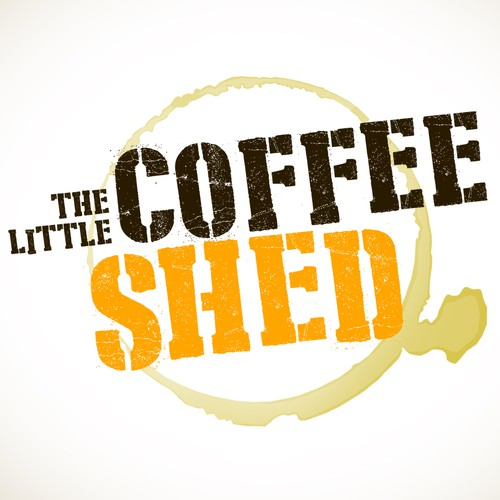 Stencil logo with the title 'Logo for The Little Coffee Shed '