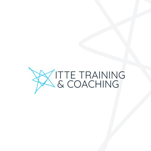 Bra design with the title 'Coaching and training logo'