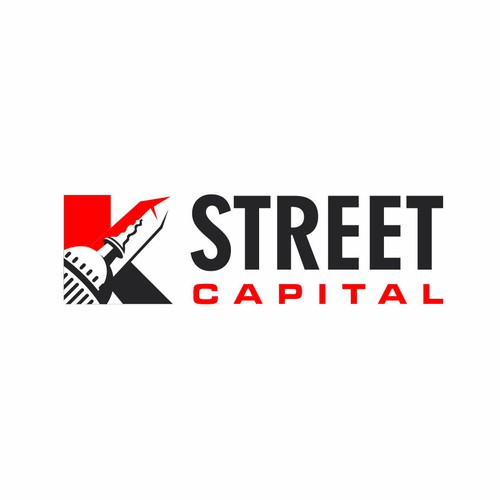 Investment logo with the title 'K Street Capital, an angel investment network of power players in Washington DC '