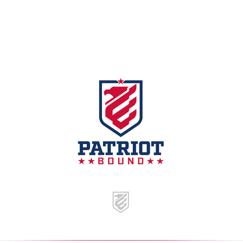 Eagle logo with the title 'Logo design for Patriot Bound'