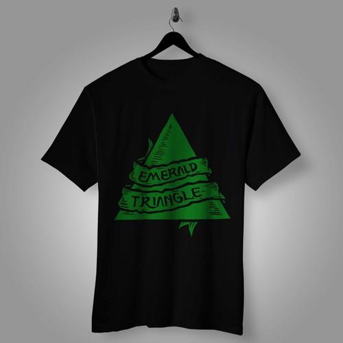 Emerald design with the title 'Emerald triangle'