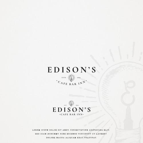 Espresso logo with the title 'Edison's Cafe Bar Inn'