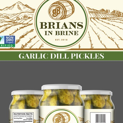 Garlic Dill Pickles Label