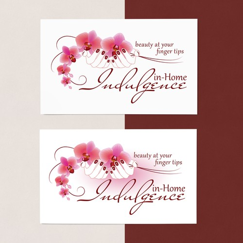 Orchid logo with the title 'Manicure service - Beauty at your finger tips'