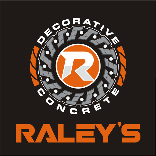 Concrete design with the title 'Raley's'
