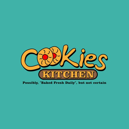 Biscuit logo with the title 'Cookies company logo design'