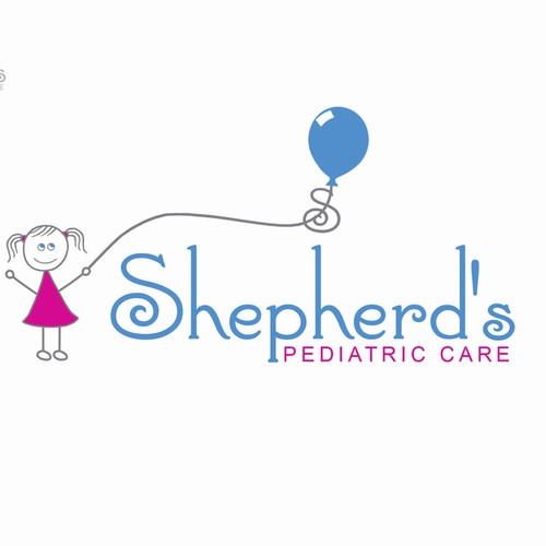 Pediatric logo with the title 'Logo concept for pediatric office'