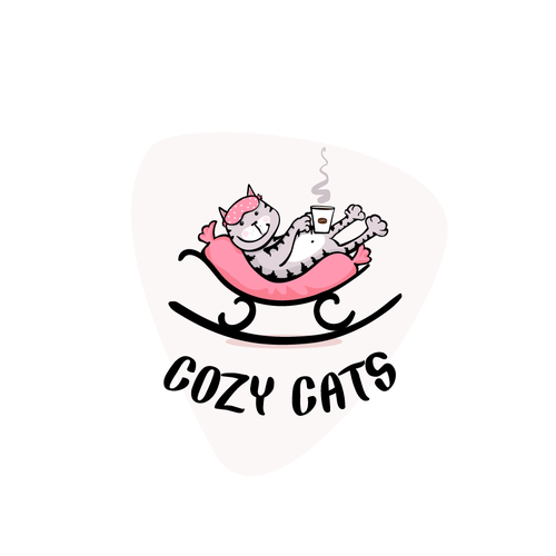 Feline design with the title 'Cozy Cats'