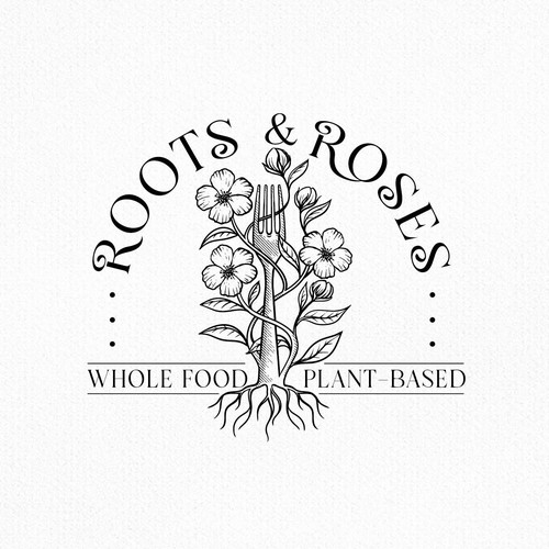 Rose logo with the title 'Roots and Roses'