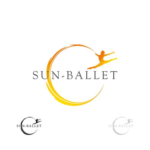 Ballerina logo with the title 'sun ballet'