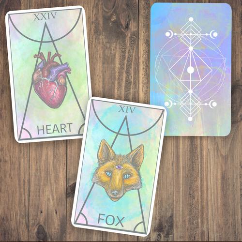 Tarot design with the title 'Tarot Cards '