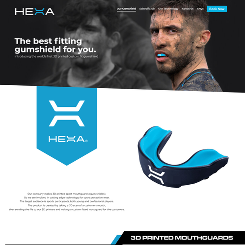 Sportswear design with the title 'HEXA'