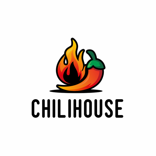 Bar and restaurant logo with the title 'Chilihouse'