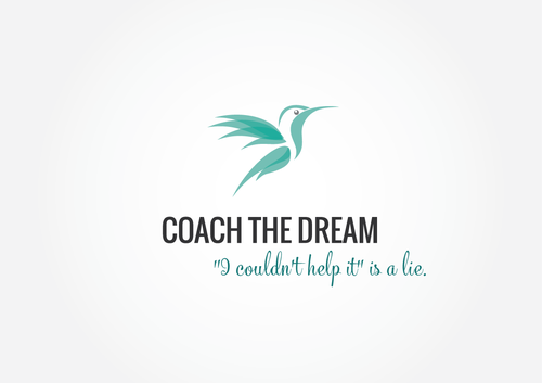 Transparent logo with the title 'Coach the dream logo'