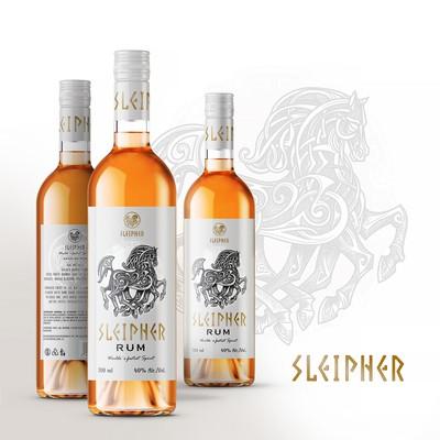 Sleipner rum, logo and label design