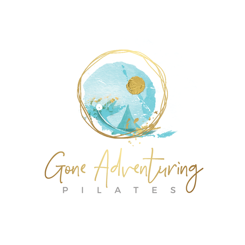 Training logo with the title 'gone pilates adventures'