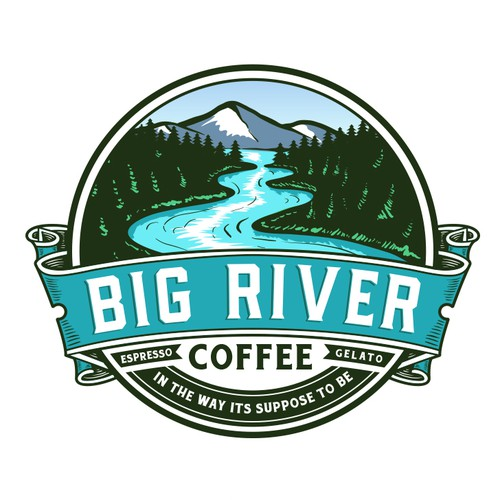River logo with the title 'Big River Coffee'