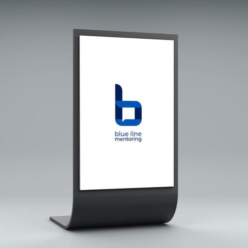 Mentoring logo with the title 'Blue Line (Mentoring platform logo)'