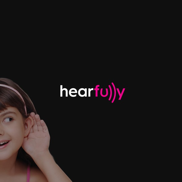 Hearing logo with the title 'Hearfully'