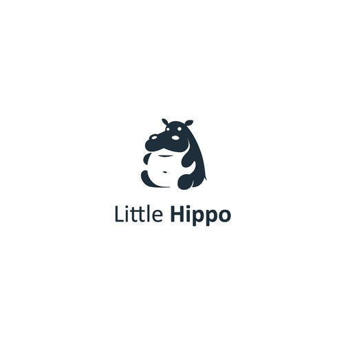 Hippo design with the title 'Little hippo (For Sale)'