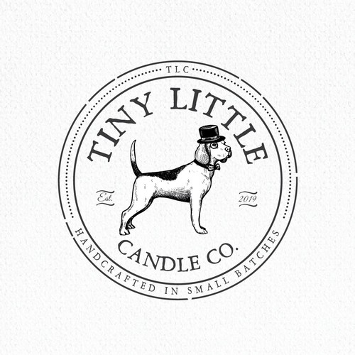 Vintage brand with the title 'Tyny Little Candle Co.'