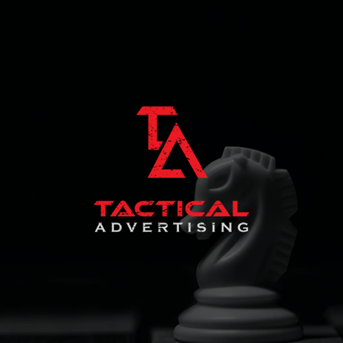Horse brand with the title 'Tactical advertising'