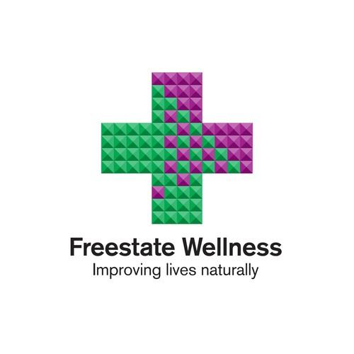 Medicinal marijuana logo with the title 'Logo concept for medical marijuana dispensary.'