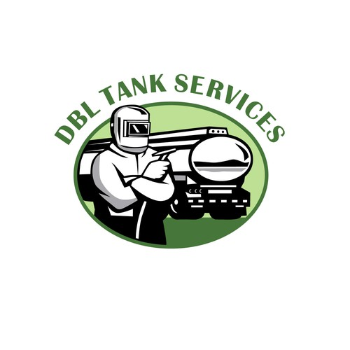 Welding design with the title 'DBL Tank Services'