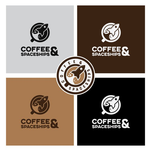 Launch logo with the title 'Clever Coffee shop logo'