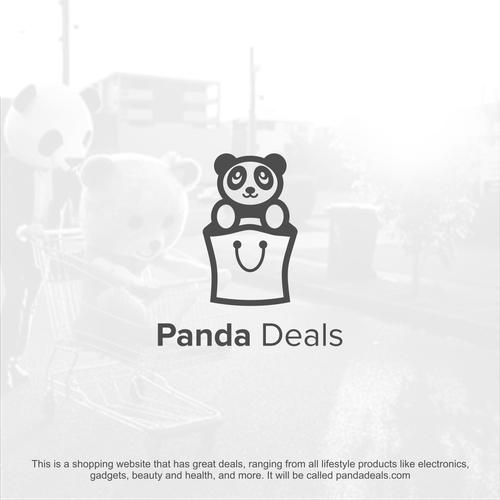 Panda logo with the title 'Panda Deals Logo'