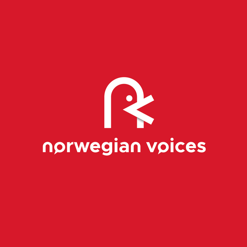 Voice over logo with the title 'Norwegian voices'