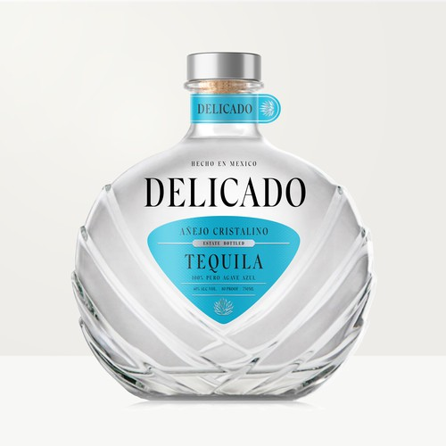Tequila label with the title 'Tequila label design'