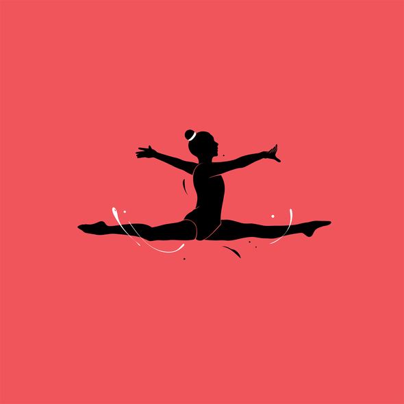 Girls' t-shirt with the title 'Gymnastics'