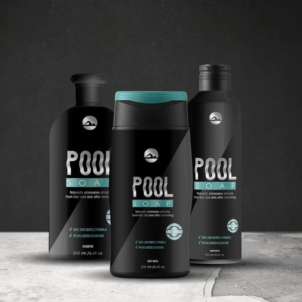 Shower design with the title 'Pool Soap'