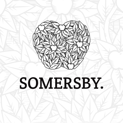 Heritage logo with the title 'Somersby rebranding'