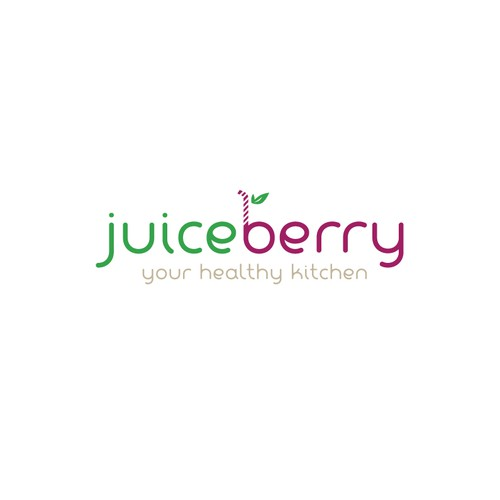 Berry logo with the title 'Logo for a juice bar'