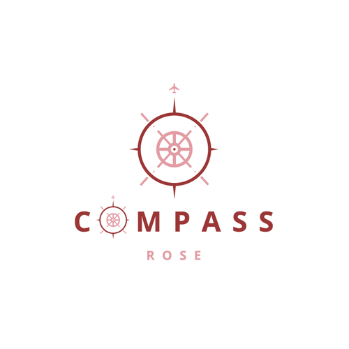 Abstract rose logo with the title 'Compass Rose'