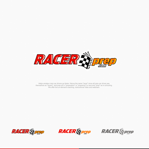 Racing logo with the title 'Racer prep'