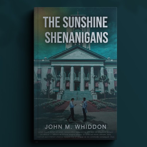 Stylish book cover with the title 'The Sunshine Shenanigans'