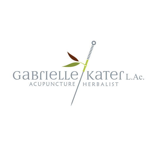 Acupuncture logo with the title 'Gabrielle Kater, Acupucture'