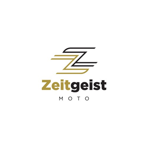 Motorcycle logo with the title 'Logo Concept for Zeitgeist'