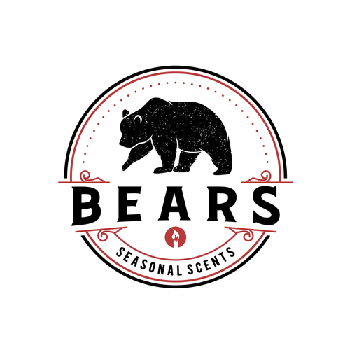 Candle logo with the title 'Bears Seasonal Scents'